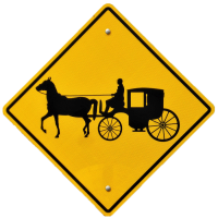 Horse and Buggy Road Sign