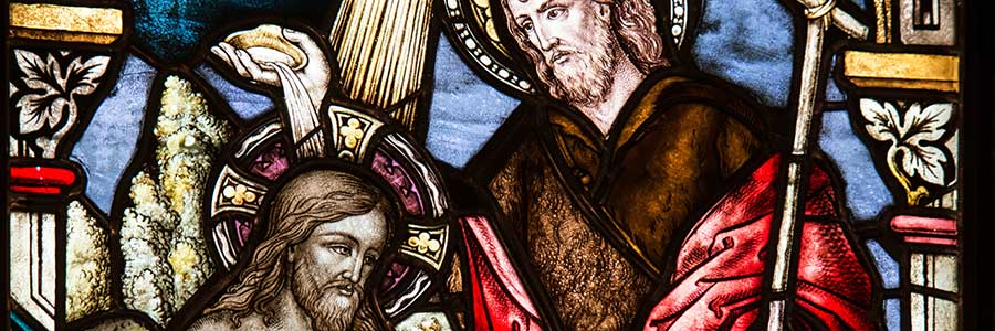 Jesus' Baptism Stained Glass