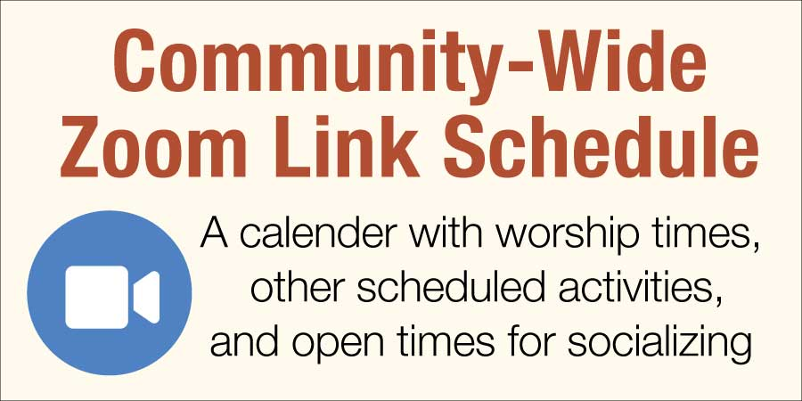 Community Zoom Link Schedule