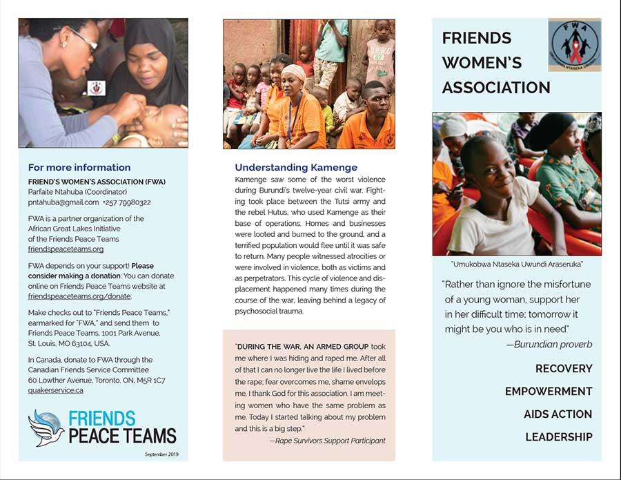 Friends Women's Association Brochure