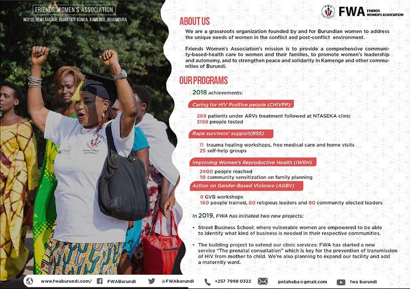 Friends Women's Association Promo