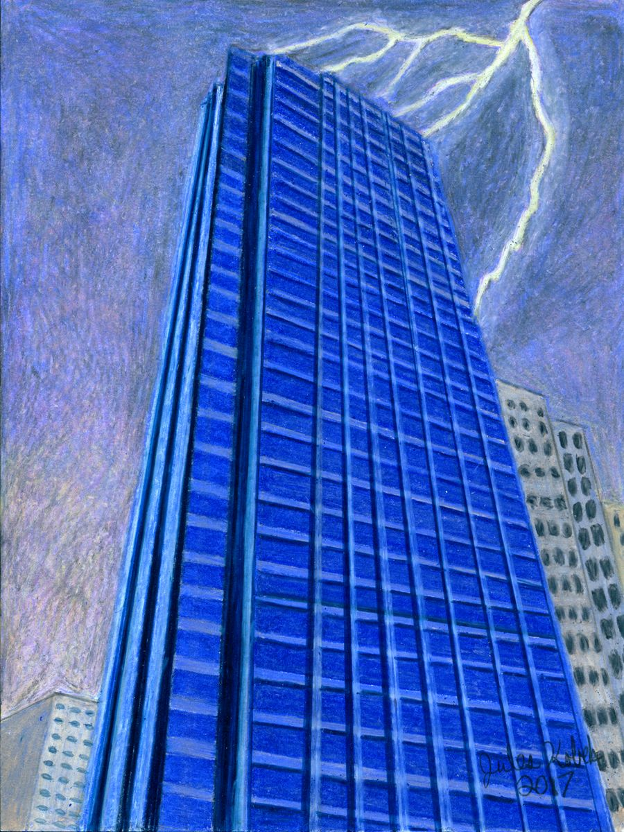 The Tower: Skyscraper hit by lightning