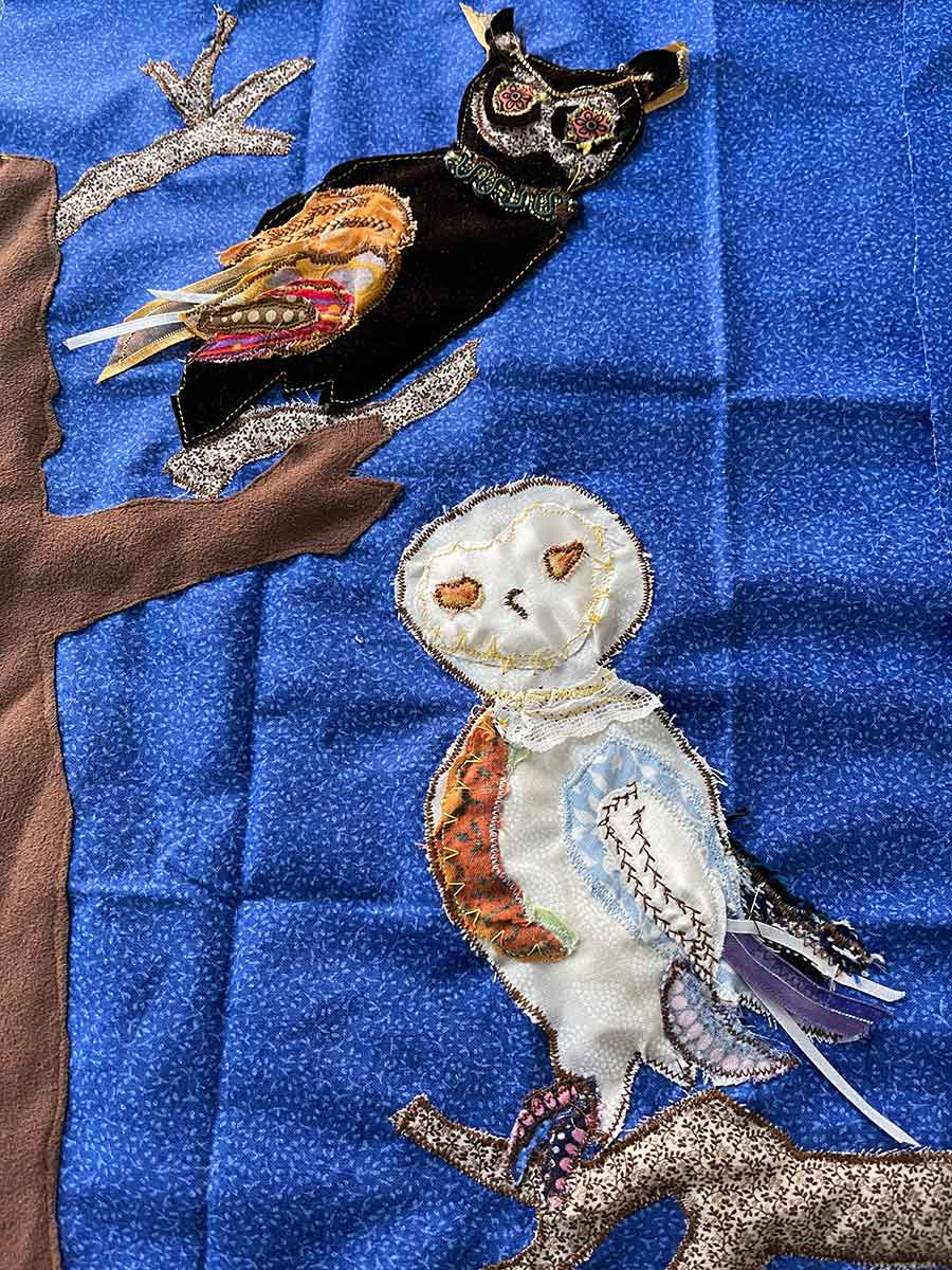 Two Owls Applique