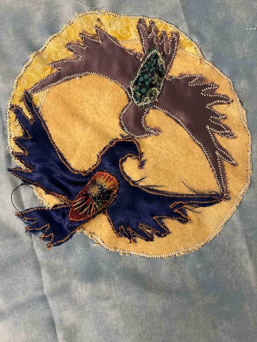 Two Birds Detail Applique